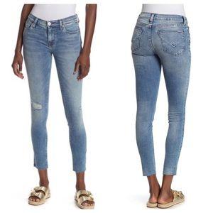 Hudson Krista Super Skinny Jeans Raw Hem Ankle 32